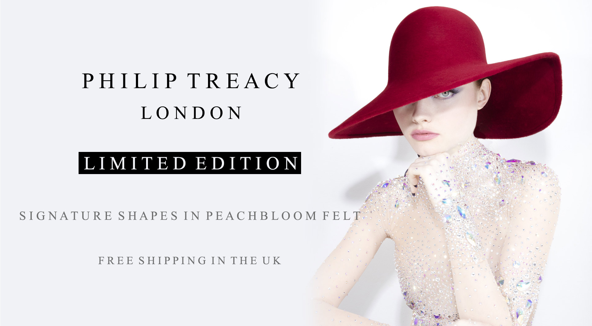 Online Exclusives A special edit of 6 iconic Philip Treacy shapes available  in 3 striking colours for the season 432a05a4986